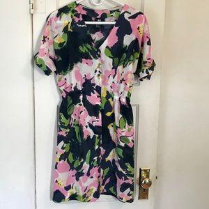 H&M floral button up dress